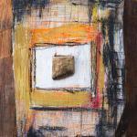 Holz mit Stein | Malerei halb abstrakt | Atelier Franiek | Gemälde und Kunst