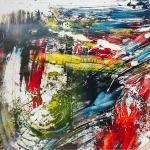 Windfarben | Malerei halb abstrakt | Atelier Franiek | Gemälde und Kunst