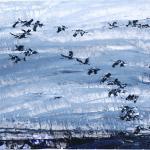 Vogelzug | Malerei halb abstrakt | Atelier Franiek | Gemälde und Kunst