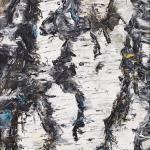 Birkenstück | Malerei halb abstrakt | Atelier Franiek | Gemälde und Kunst