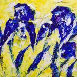 Lilie | Malerei halb abstrakt | Atelier Franiek | Gemälde und Kunst