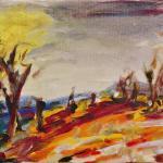 Sommer-Glut | Malerei halb abstrakt | Atelier Franiek | Gemälde und Kunst