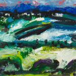 Berge und See | Malerei halb abstrakt | Atelier Franiek | Gemälde und Kunst