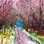 Herbst-Weg | Malerei halb abstrakt | Atelier Franiek | Gemälde und Kunst