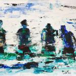 Badende | Malerei halb abstrakt | Atelier Franiek | Gemälde und Kunst