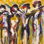 Gruppe | Malerei halb abstrakt | Atelier Franiek | Gemälde und Kunst
