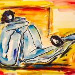 Gemeinsam | Malerei halb abstrakt | Atelier Franiek | Gemälde und Kunst