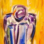 Aus der Tiefe | Malerei halb abstrakt | Atelier Franiek | Gemälde und Kunst