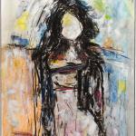 Frau | Malerei halb abstrakt | Atelier Franiek | Gemälde und Kunst