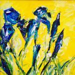 Lilien 2 | Malerei halb abstrakt | Atelier Franiek | Gemälde und Kunst