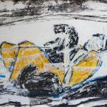 Frau mit Katzen | Malerei halb abstrakt | Atelier Franiek | Gemälde und Kunst