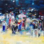 Marktplatz | Malerei halb abstrakt | Atelier Franiek | Gemälde und Kunst