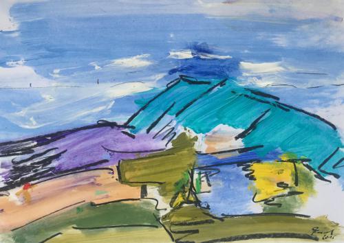 Shop: Landschaft - Küste | Malerei halb abstrakt | Atelier Franiek | Gemälde und Kunst