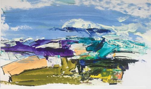 Shop: Landschaft - Süden | Malerei halb abstrakt | Atelier Franiek | Gemälde und Kunst