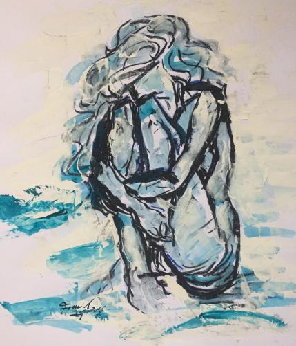 Shop: Alleine | Malerei halb abstrakt | Atelier Franiek | Gemälde und Kunst