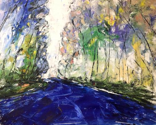 Shop: Der Weg | Malerei halb abstrakt | Atelier Franiek | Gemälde und Kunst