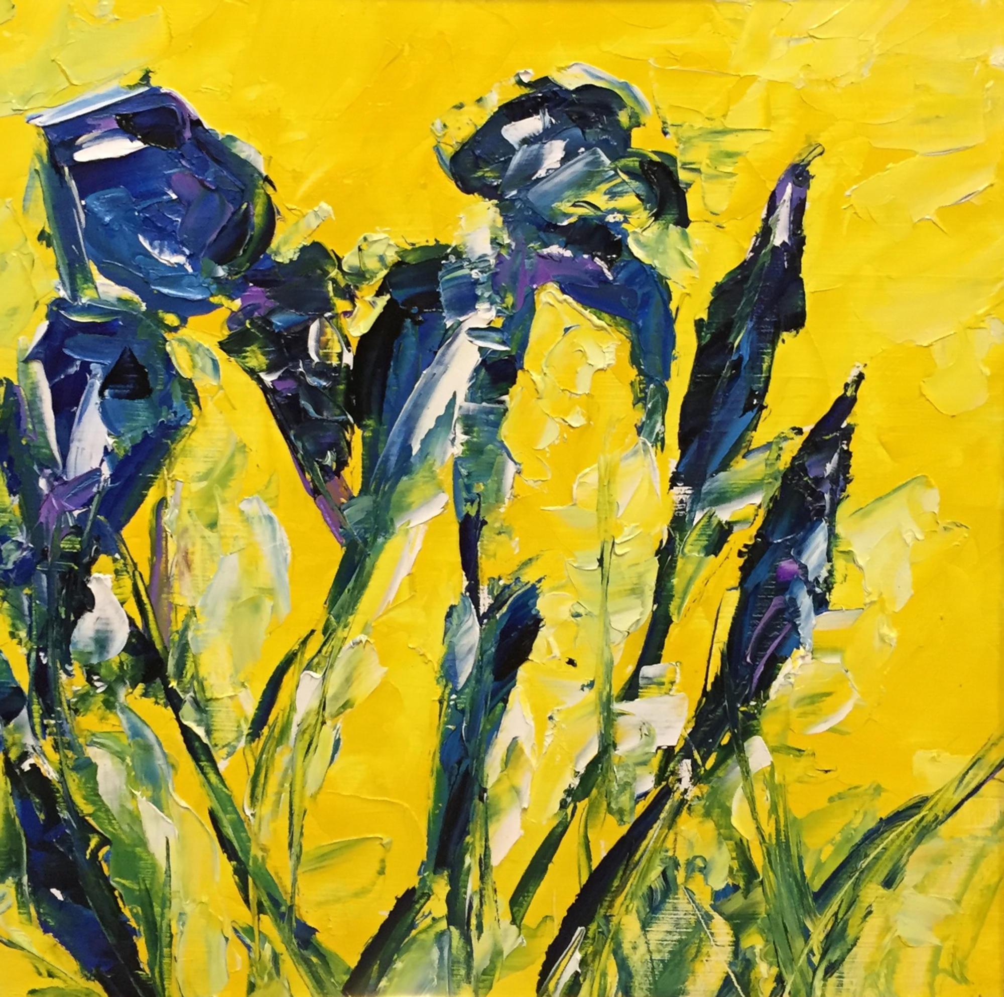 Shop: Lilien | Malerei halb abstrakt | Atelier Franiek | Gemälde und Kunst
