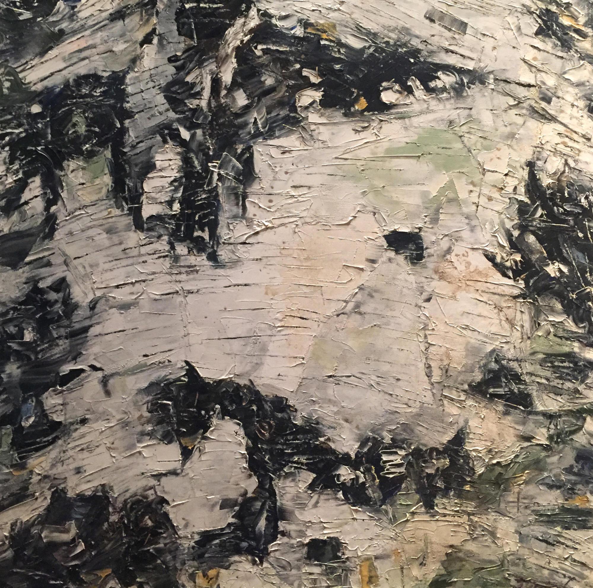 Shop: Birken-Stück | Malerei halb abstrakt | Atelier Franiek | Gemälde und Kunst