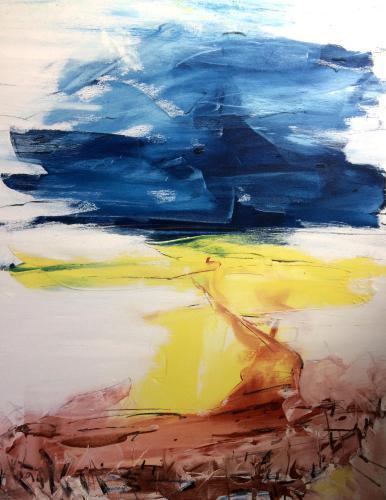 Shop: Zum Meer | Malerei halb abstrakt | Atelier Franiek | Gemälde und Kunst